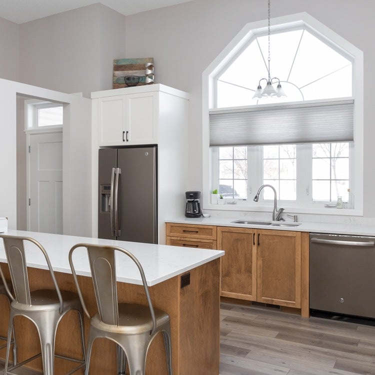 Out with the oak in this kitchen cabinets remodel - Fargo, ND.